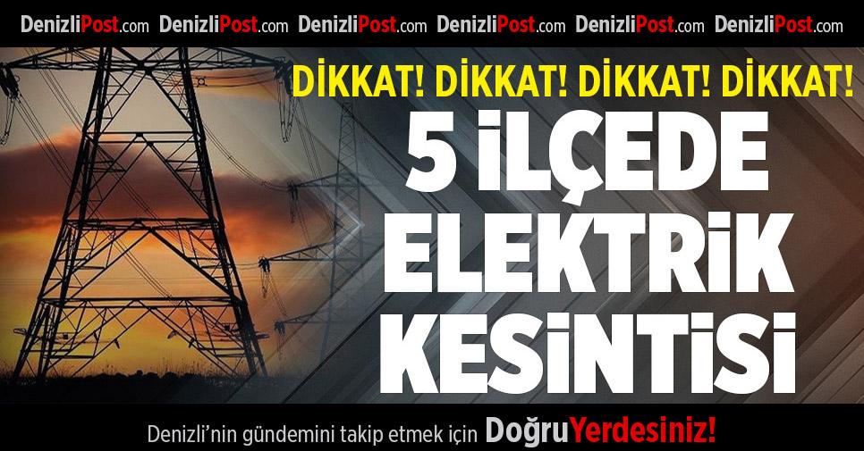 5 İlçede Elektrik Kesintisi