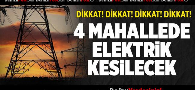 4 Mahallede Elektrik Kesilecek