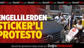 Engellilerden 'sticker'lı protesto