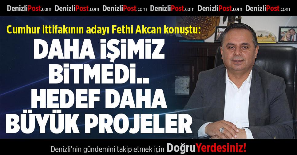 Cumhur ittifakının adayı Fethi Akcan konuştu
