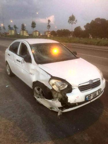 foto 1 158 - Motosikletle otomobil çarpıştı: 2 ölü