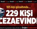 Denizli'de FETÖ operasyonlarında 229 kişi tutuklandı