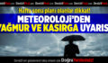 Meteoroloji'den Yağmur ve Kasırga Uyarısı