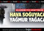DENİZLİ'NİN 5 GÜNLÜK HAVA DURUMU