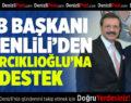 DTB Başkanı Tefenlili'den Hisarcıklıoğlu'na Destek