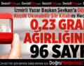 İzmirli Yazar Başkan Şevkan'a Dünyanın En Küçük Okunabilir Şiir Kitabı Hediye Etti