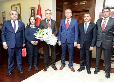 İl Gümrük Müdürlüğü'nden Valilik ve DTO'ya ziyaret