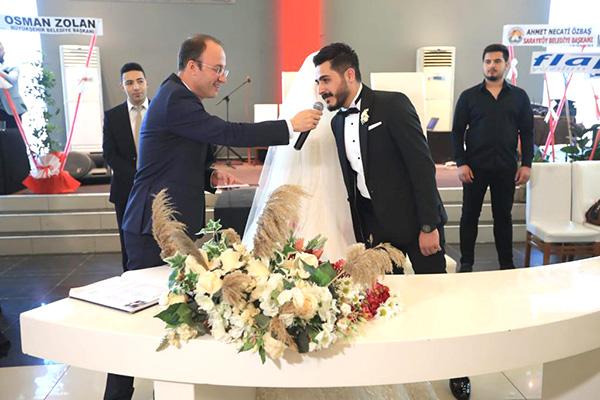 ilk nikah 1 - BAŞKAN ÖRKİ, İLK NİKAHINI KIYDI