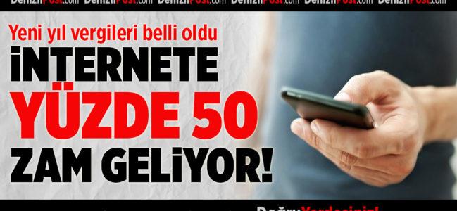 İnternete Yüzde 50 Zam Geliyor!