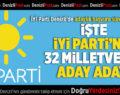 İYİ Parti Denizli'de Milletvekili Aday Adayları Açıklandı