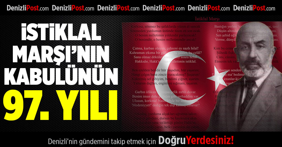 Protokolden, İstiklal Marşı'nın Kabulünün 97. Yıldönümü ve Mehmet Akif Ersoy'u Anma Günü Mesajı