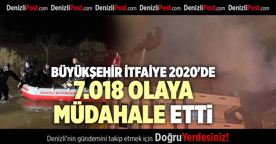 BÜYÜKŞEHİR İTFAİYE 2020'DE 7.018 OLAYA MÜDAHALE ETTİ