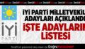 İYİ Parti Denizli Milletvekili Adayları Açıklandı
