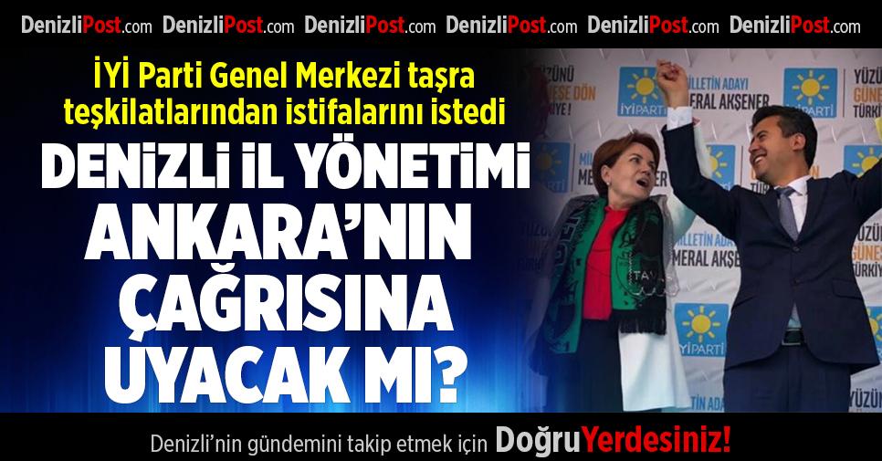İYİ Parti Genel Merkezi Taşra Teşkilatlarından İstifa Etmelerini İstedi