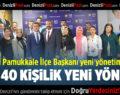 İYİ Parti Pamukkale İlçe Başkanı Yeni Yönetimini Tanıttı