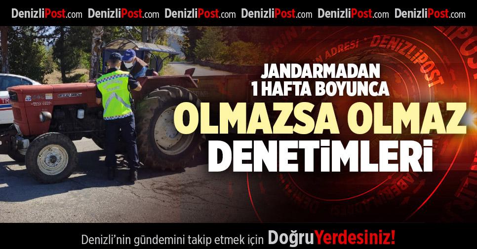 JANDARMA 1 HAFTA BOYUNCA TRAKTÖR VE MOTOSİKLETLERİ DENETLEDİ