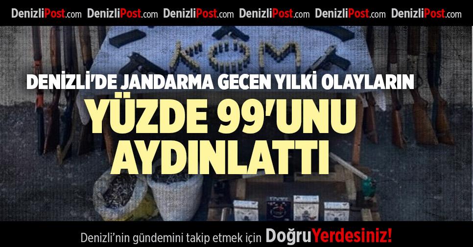 DENİZLİ'DE JANDARMA GECEN YILKİ OLAYLARIN YÜZDE 99'UNU AYDINLATTI