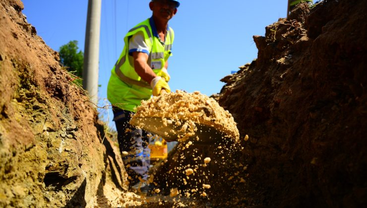 Muğla'da sağlıklı su için hatlar yenileniyor
