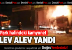Park halindeki kamyonet, alev alev yandı