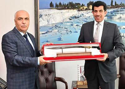 Katar Büyükelçisi'nden Denizli'ye Ziyaret