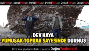 Mahallenin Futbol Sahasına Dev Kaya Parçası Düştü