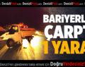 Kavun yüklü kamyonet bariyerlere çarptı: 1 yaralı