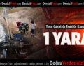 Tırın Çarptığı Traktör Kanala Devrildi: 1 Yaralı