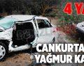 Cankurtaran'da yağmur kazaları: 4 yaralı