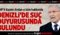 CHP'li Arslan'dan Ayhan Oğan hakkında suç duyurusu