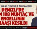 CHP'li Arslan: 2 Bin 188 Muhtaç ve Engellinin Maaşı Kesildi