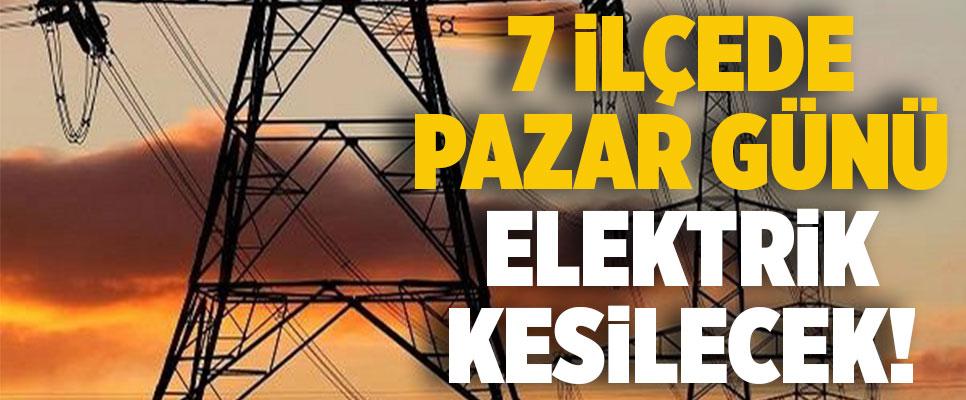 Denizli'nin 7 İlçesinde Pazar Günü Elektrik Kesintisi Yapılacak