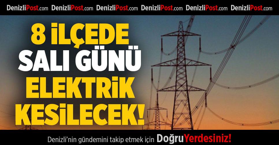 Denizli'nin 8 İlçesinde Pazar Günü Elektrik Kesintisi Yapılacak