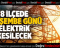 Denizli'nin 8 İlçesinde Çarşamba Günü Elektrik Kesintisi Yapılacak