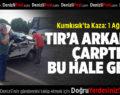 KumKısık'ta Kaza: 1 Ağır Yaralı