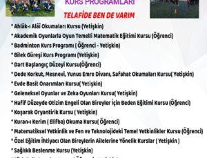 Sarayköy'de özel çocukların da düşünüldüğü kurs programı hazırlandı
