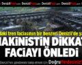 Tekirdağ'daki tren faciasının bir benzeri makinistin dikkati ile önlendi