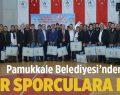 Pamukkale Belediyesi'nden malzeme yardımı