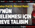 PAÜ Rektör Adayı Prof.Dr. Meder projelerini açıkladı