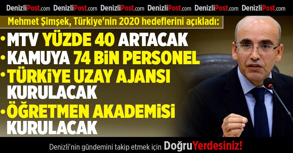 Mehmet Şimşek Türkiye'nin 2020 Hedeflerini Açıkladı