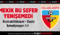 Kızılcabölükspor – Elaziz Belediyespor: 1-1