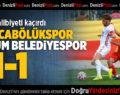 Mekik, Galibiyeti Kaçırdı: Kızılcabölükspor – Çorum Belediyespor: 1-1
