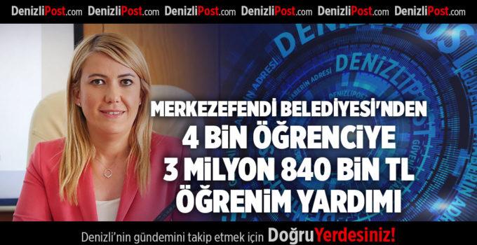 MERKEZEFENDİ BELEDİYESİ'NDEN 4 BİN ÖĞRENCİYE 3 MİLYON 840 BİN TL ÖĞRENİM YARDIMI