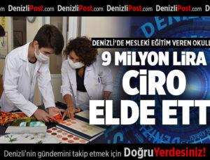 DENİZLİ'DE MESLEKİ EĞİTİM VEREN OKULLAR 9 MİLYON LİRA CİRO ELDE ETTİ