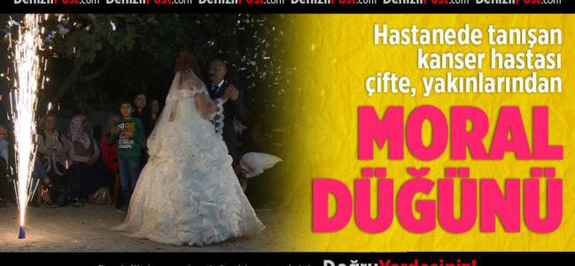 Kanser Hastası Çifte Yakınlarından Moral Düğünü