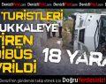 Rus Turistleri Denizli'ye Getiren Midibüs Devrildi