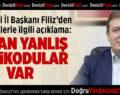 AK Parti İl Başkanı Filiz'den Mültecilerle İlgili Açıklama