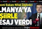 Zeybekci, Almanya'ya O Şiirle Mesaj Verdi