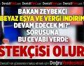 Bakan Zeybekci'de Beyaz Eşya ve Vergi İndirimi Açıklaması