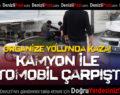 Organize Yolu'nda Kaza: Otomobil İle Kamyonet Çarpıştı