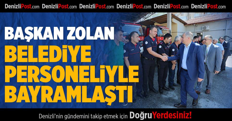 Başkan Osman Zolan, belediye personeliyle bayramlaştı